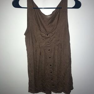 Brown Anne taylor tank top